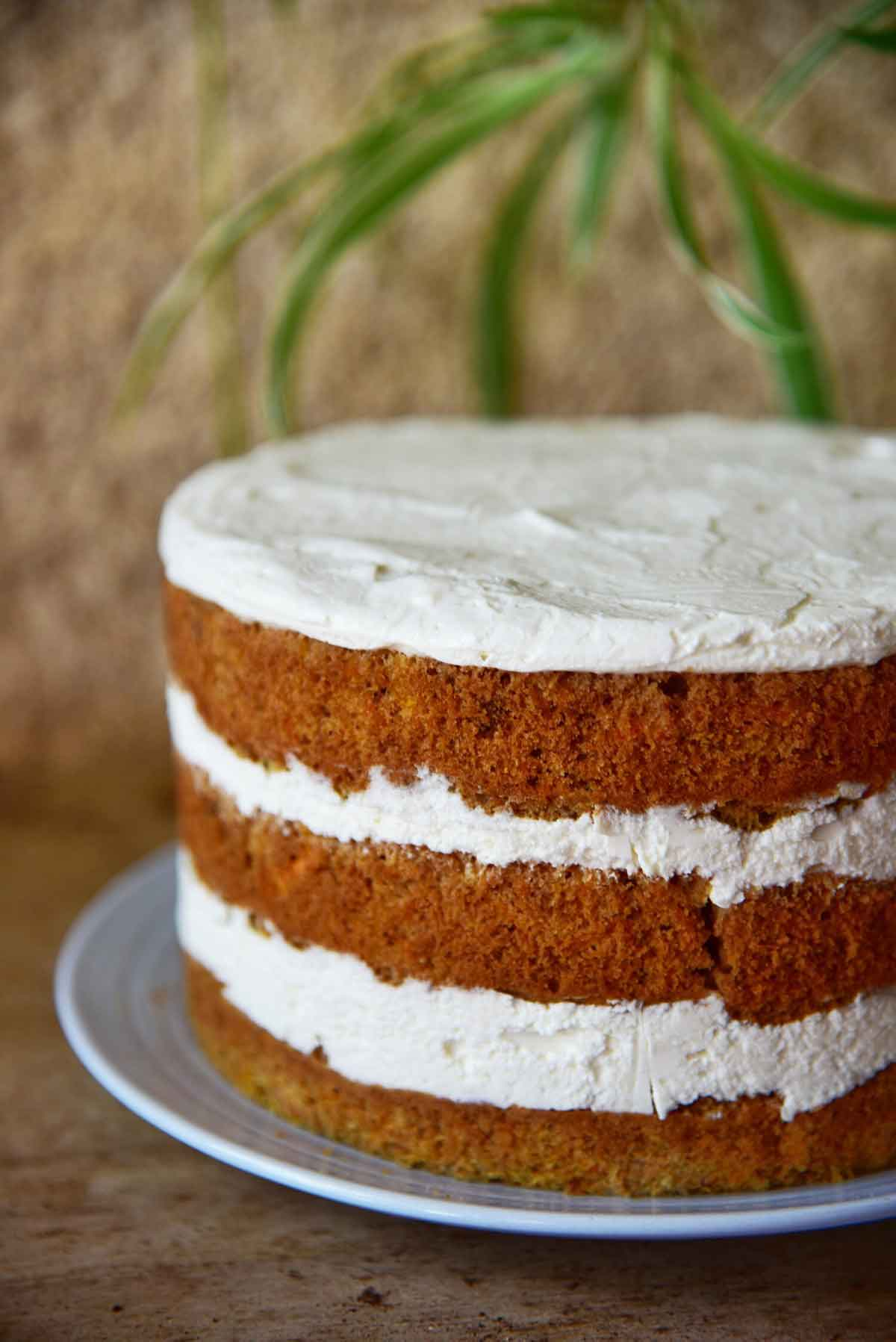 עוגת גזר וקרם שמנת חמוצה